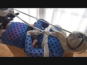 Nina Jay tied up struggling