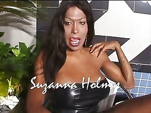 Shemale Suzanna Holmes and her AMAZING BIG BLACK DICK