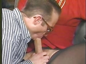 Candy B Vintage Shemale  sucks cock and fucks her lover