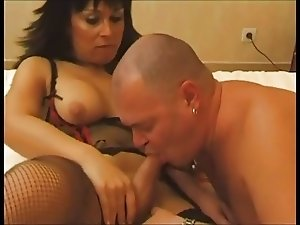 Exotic Shemale Fucks His Ass And He Swallows Her Cum