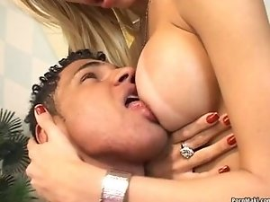 Bisexual guy jerks and strokes big tranny cock